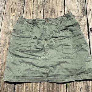 St. John's Bay Olive Green Skirt W/ Shorts Inside